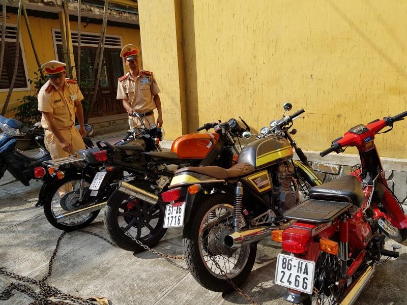 Huế: Phát hiện nhiều xe mô tô giá trị, không rõ nguồn gốc xuất xứ
