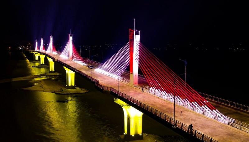 Cây cầu dây văng đầu tiên ở Quảng Ngãi chính thức có tên là cầu Cổ Lũy