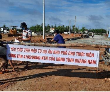 Quảng Nam: Dự án khu phố chợ Chiên Đàn mọc lên, ruộng vườn nhà cửa người dân ngập trong nước