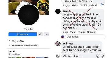 xuc pham cong an quang ngai tren facebook bi xu phat 75 trieu dong