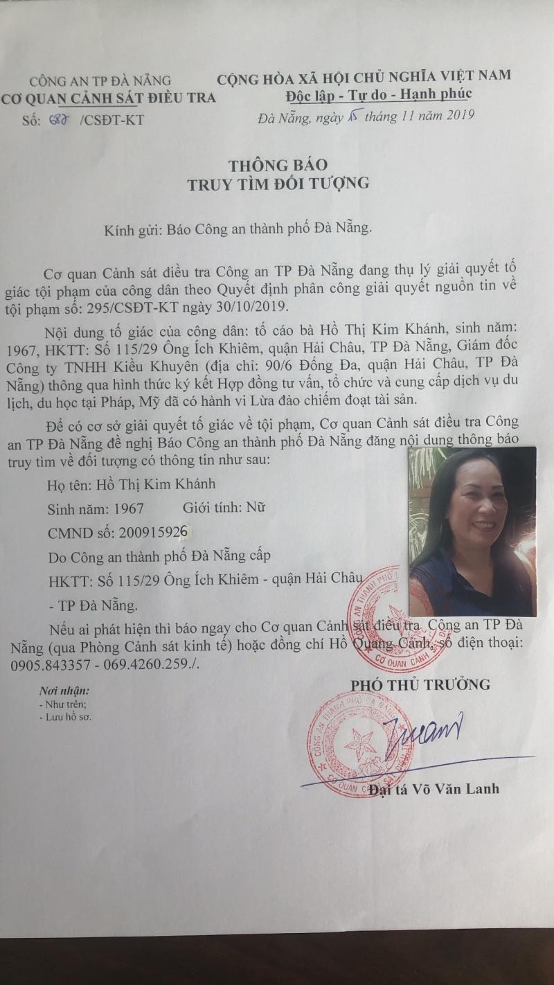 Đà Nẵng truy tìm nữ giám đốc công ty đưa 'lao động chui' ra nước ngoài dưới mác du học, du lịch