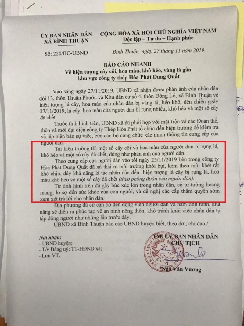 Quảng Ngãi: Xin đừng đem sức khỏe và tính mạng người dân quanh nhà máy thép Hòa Phát ra thử nghiệm