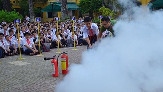Phòng chống cháy nổ trường học ở thành phố Vĩnh Yên