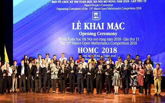 Hơn 500 thí sinh hoàn thành Kỳ thi Toán học Hà Nội mở rộng năm 2018