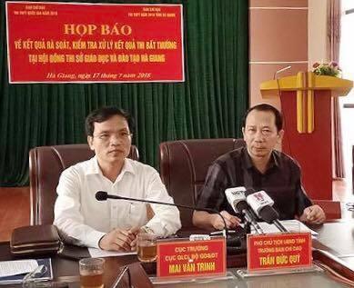 Họp báo về điểm thi cao bất thường tại Hà Giang