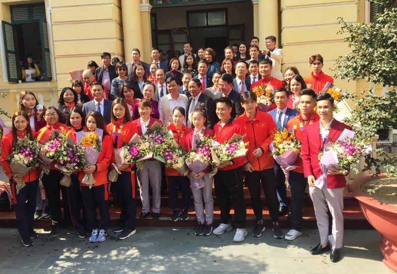 Hải Phòng:  Vinh danh Đoàn Thể thao tham dự SEA Games 30 tại Philippines