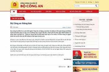 Bộ Công an: Phong tỏa tài khoản liên quan vụ Đồng Tâm