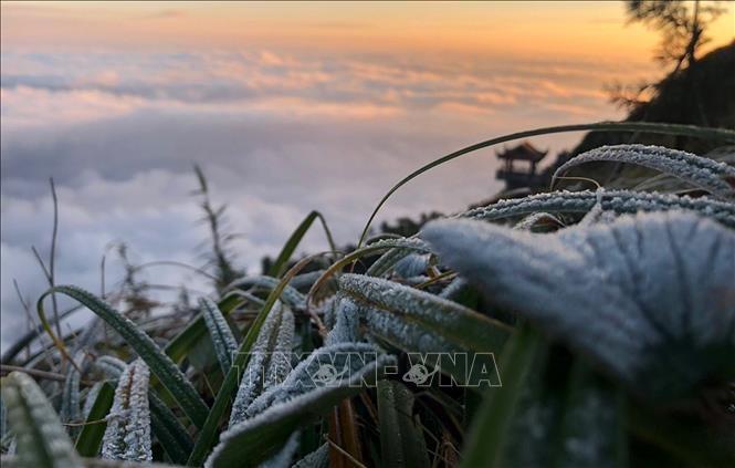 Mùng 1 Tết miền Bắc rét đậm, vùng núi xuất hiện băng giá