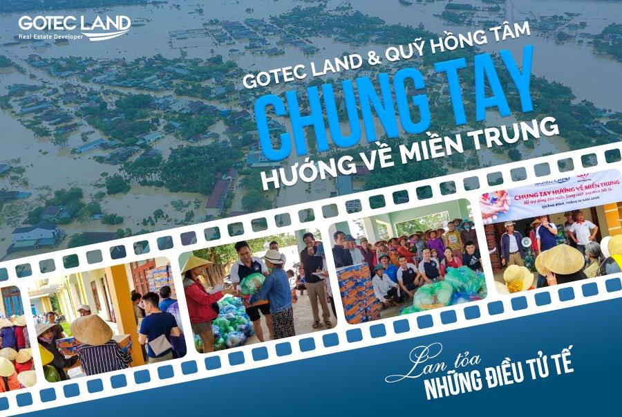 gotec land dong hanh cung mien trung vuot lu