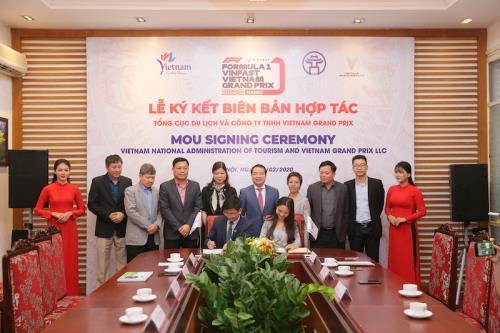 Vietnam Grand Prix hợp tác với Tổng cục Du lịch Việt Nam quảng bá chặng đua F1