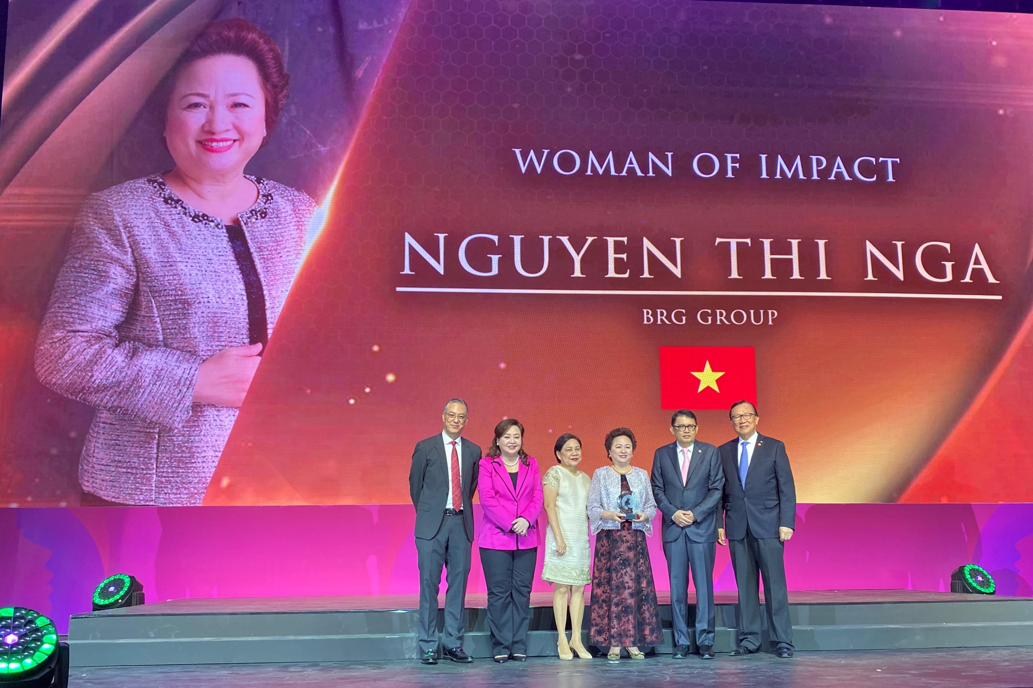 Chủ tịch Tập đoàn BRGđược vinh danh Nữ Doanh Nhân có tầm ảnh hưởng lớn khu vực ASEAN