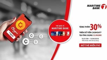 maritime bank phoi hop voi ung dung clingme mang den uu dai tang them 30