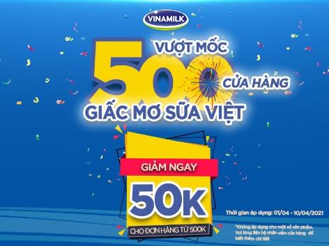 vuot moc 500 cua hang giac mo sua viet vinamilk gia tang trai nghiem mua sam cho nguoi tieu dung