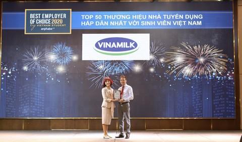 Vinamilk là một trong những nhà tuyển dụng hấp dẫn nhất đối với thế hệ trẻ - lực lượng lao động của tương lai