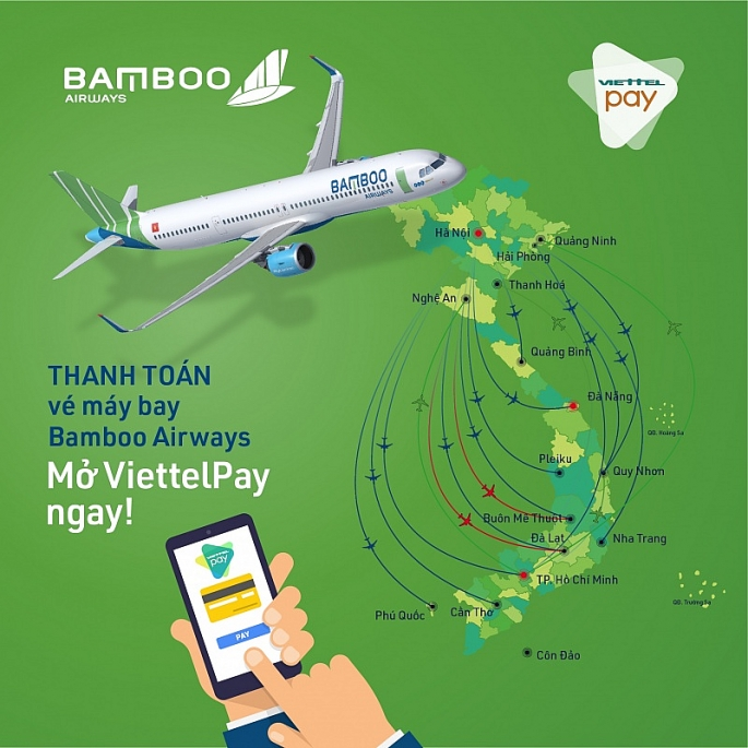 bamboo airways ra mat ung dung thanh toan ve may bay tien loi voi viettelpay