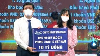 vinamilk tiep tuc dong hanh voi chinh phu ung ho 10 ty dong vao quy vaccine phong covid 19