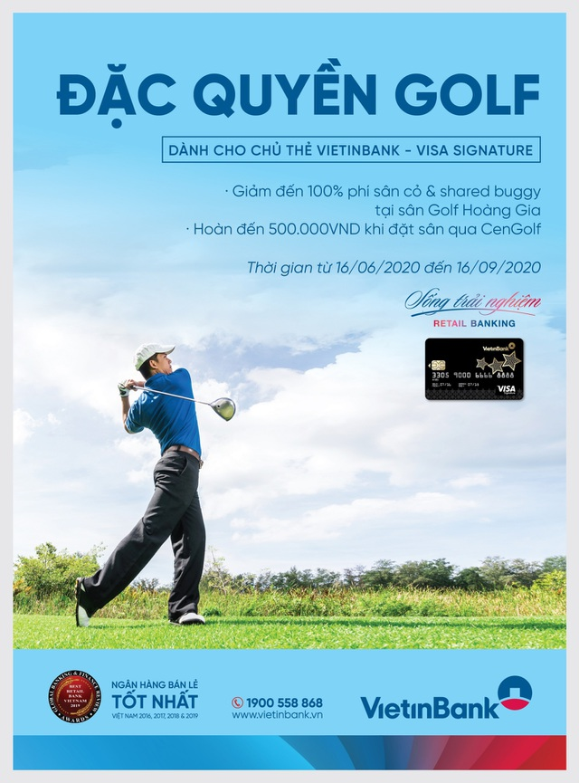 khuyen mai hap dan danh cho cac golfer so huu the vietinbank visa signature