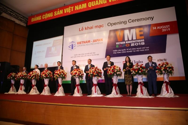 Khai mạc VME & SIE 2019: Chuỗi Triển lãm Công nghiệp hỗ trợ Việt Nam - Nhật Bản tại Hà Nội