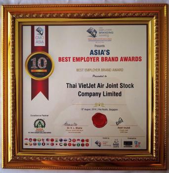 Vietjet Thailand là thương hiệu tuyển dụng tốt nhất châu Á 2019