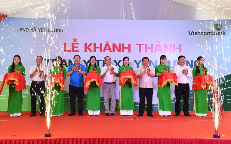 Khánh thành Trạm y tế xã Yên Lương, Phú Thọ do Vietcombank tài trợ 2 tỷ đồng