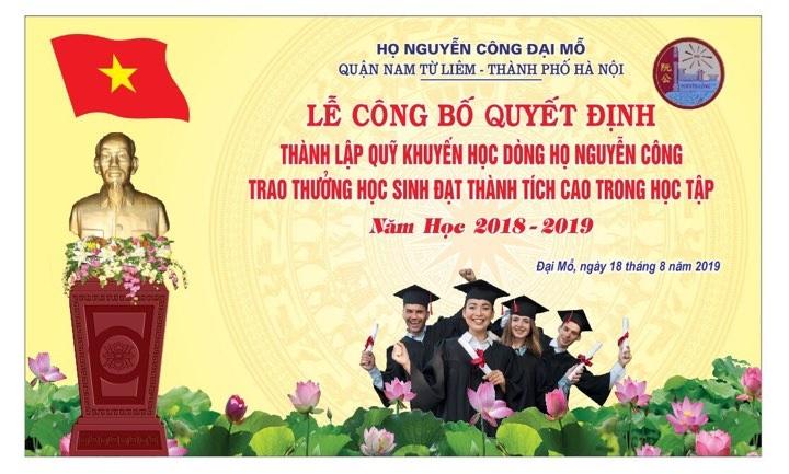 phong trao khuyen hoc khuyen tai o dong ho nguyen cong dai mo