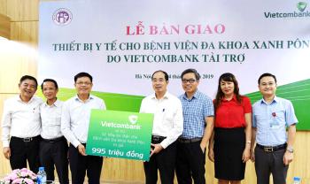 vietcombank tai tro 2 may loc than cho benh vien xanh pon ha noi