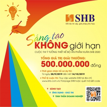 """SHB tổ chức cuộc thi ý tưởng thiết kế bộ ẩn phẩm xuân 2020: """"Sáng tạo không giới hạn"""""""