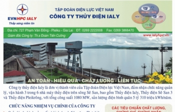 tap doan dien luc viet nam cong ty thuy dien ialy