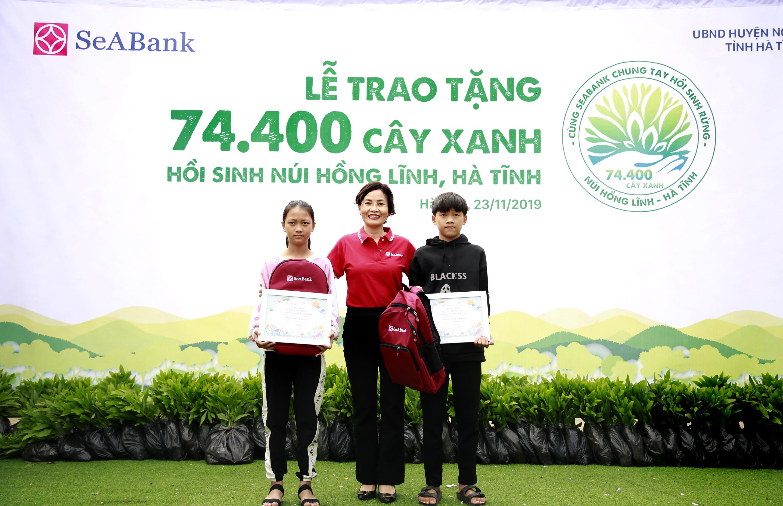 seabank trao tang 74400 cay xanh hoi sinh rung tai nui hong linh ha tinh