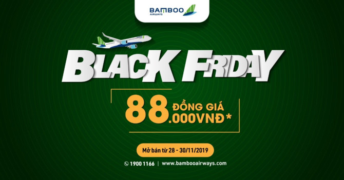 bamboo airways black friday chuong trinh uu dai ve may bay dong gia dip cuoi nam