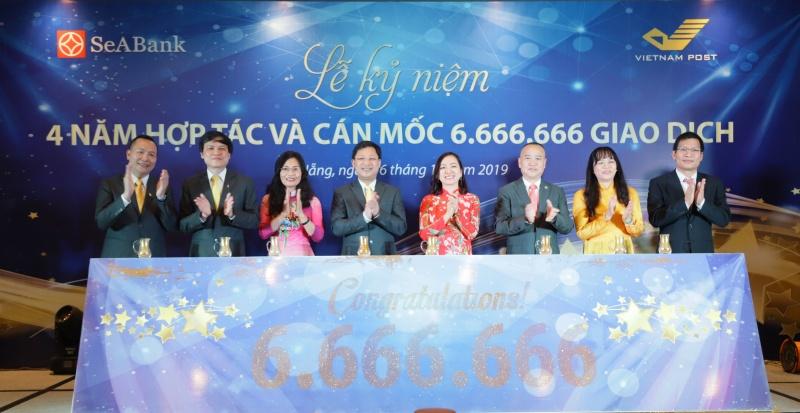 SeAbank và Vnpost kỉ niệm 4 năm hợp tác, cán mốc 6.666.666 giao dịch