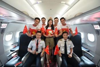 Ban huấn luyện, người thân của đội bóng nữ SEA Games được bay miễn phí trên 130 chặng cùng Vietjet