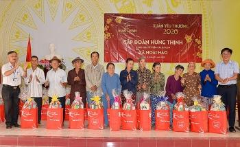 Xuân 2020: Tập đoàn Hưng Thịnh trao hơn 2.500 phần quà đến người dân Bình Định, Khánh Hòa