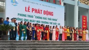 huong ung ngay moi truong the gioi phu nu ha noi phat dong chong rac thai nhua