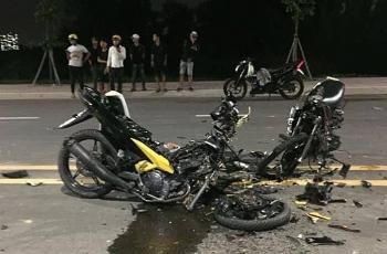 TP.HCM: Hai người tử vong, 2 xe máy vỡ vụn sau cú tông mạnh