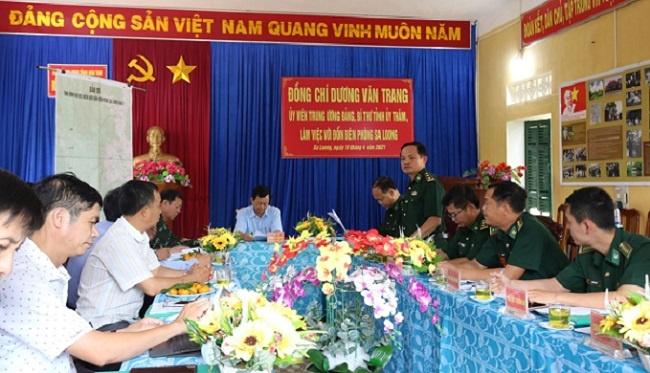 Kon Tum: Bí thư Tỉnh ủy thăm và làm việc với Đồn Biên phòng Sa Loong