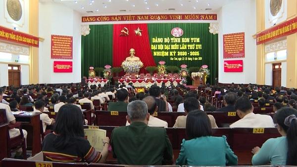 Kon Tum: Bầu Ban Chấp hành Đảng bộ tỉnh khóa XVI, nhiệm kỳ 2020-2025