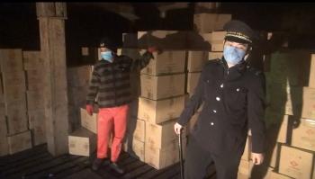 Hải đội Kiểm soát trên biển khu vực miền Bắc phát hiện, truy đuổi, kiểm tra và bắt giữ tàu Chung Ching vận chuyển, buôn bán thuốc lá trái phép
