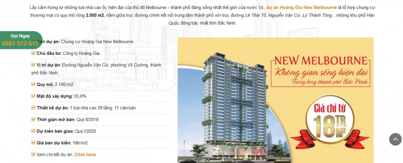 Chủ đầu tư dự án Hoàng Gia New Melbourne  vi phạm Luật Kinh doanh bất động sản?