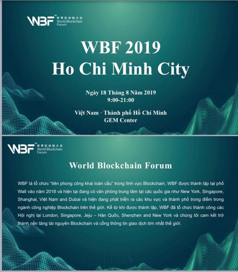 Hội thảo Blockchain sẽ được WBF tổ chức tại Việt Nam