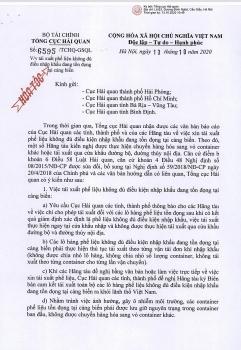 tong cuc hai quan chi dao day nhanh tai xuat phe lieu khong du dieu kien nhap khau ton dong tai cang bien