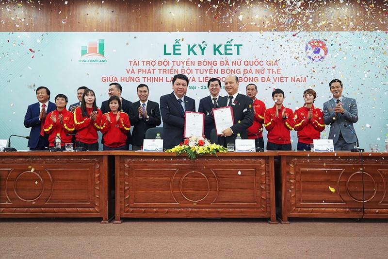 Hưng Thịnh Land tài trợ 100 tỷ đồng cho Đội tuyển bóng đá nữ Quốc gia và Phát triển Đội tuyển nữ trẻ hướng đến World Cup