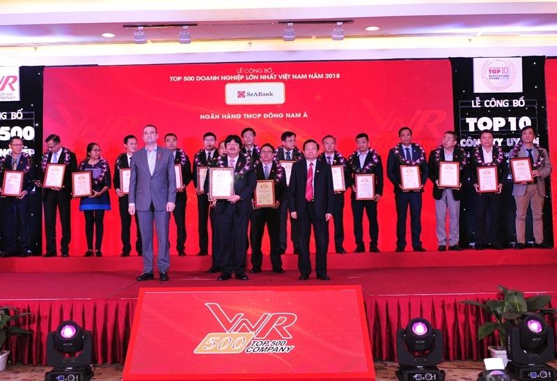 """SeABanktiếp tục được vinh danh trong bảng xếp hạng""""Top 500 doanh nghiệp lớn nhất Việt Nam"""""""