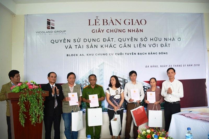 Tập đoàn Vicoland đồng loạt trao sổ hồng dự án nhà ở xã hội tại Huế và Đà Nẵng