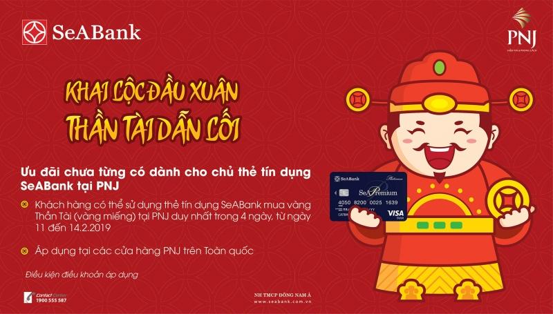 mua vang ngay via than tai bang the tin dung seabank