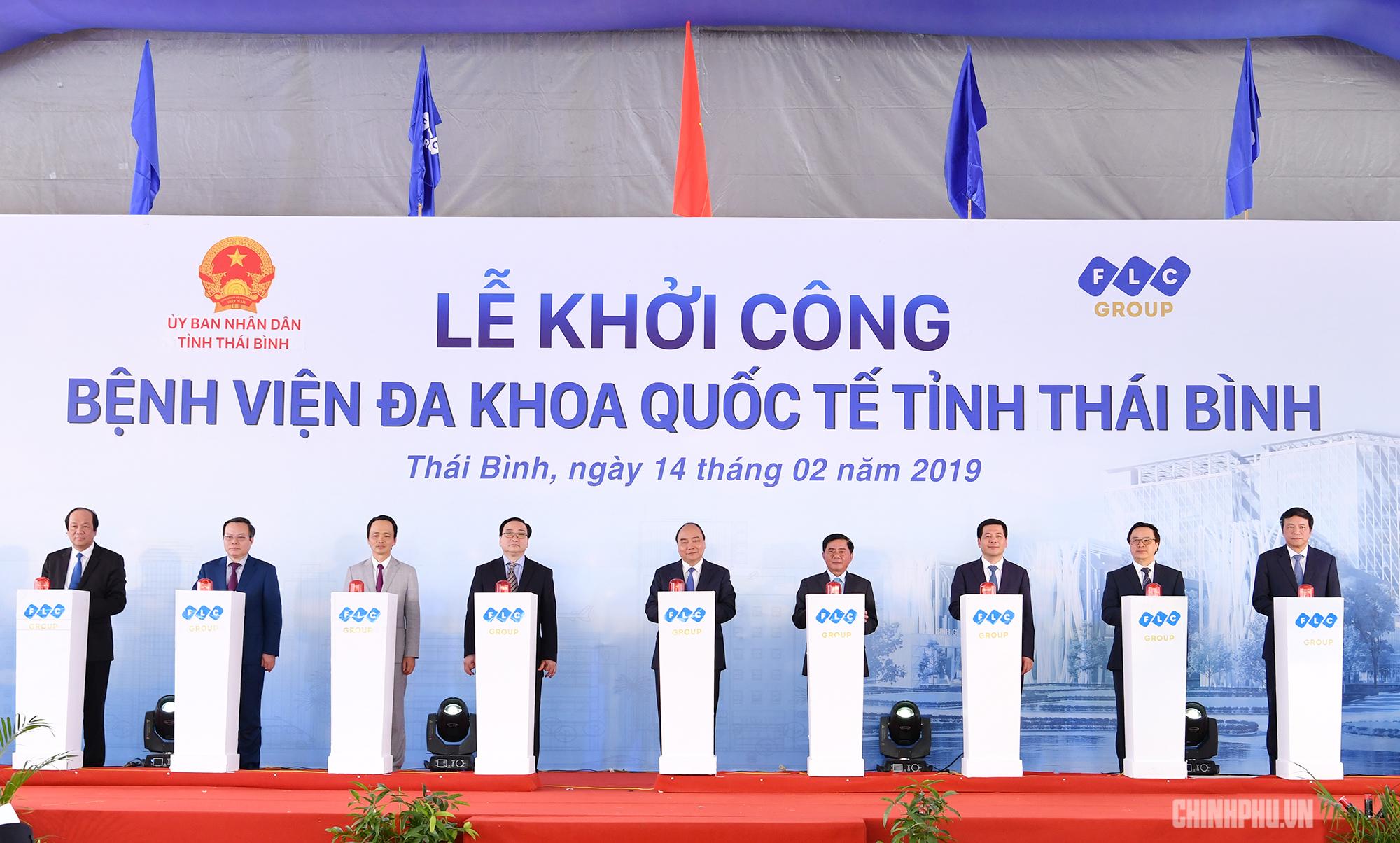 thu tuong du khoi cong benh vien lon nhat tinh thai binh