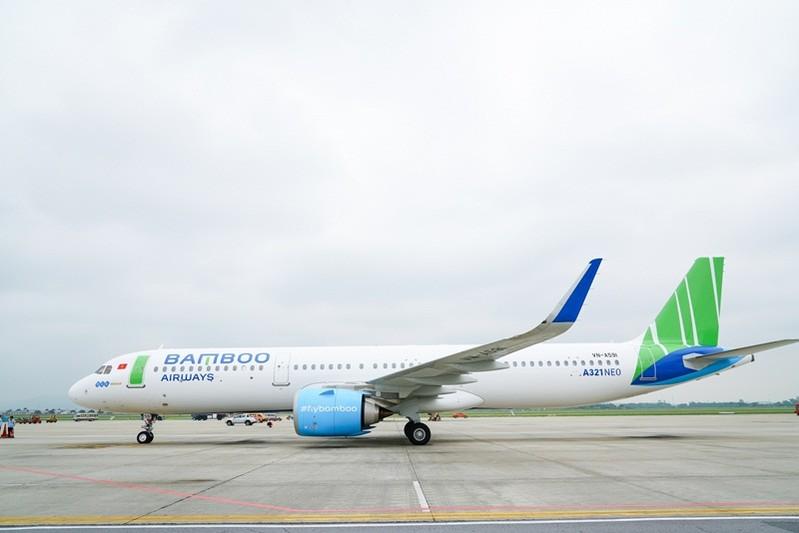 bamboo airways don them may bay airbus a321neo at chu bai cho duong bay chau a sap toi