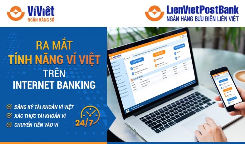 Ra mắt tính năng Ví Việt trên Internet Banking