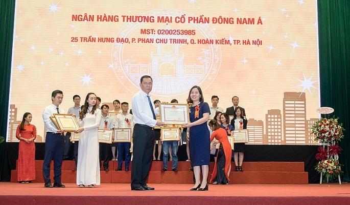 seabank nhan bang khen cua bo tai chinh do co thanh tich tot trong cong tac ke khai nop thue nam 2017