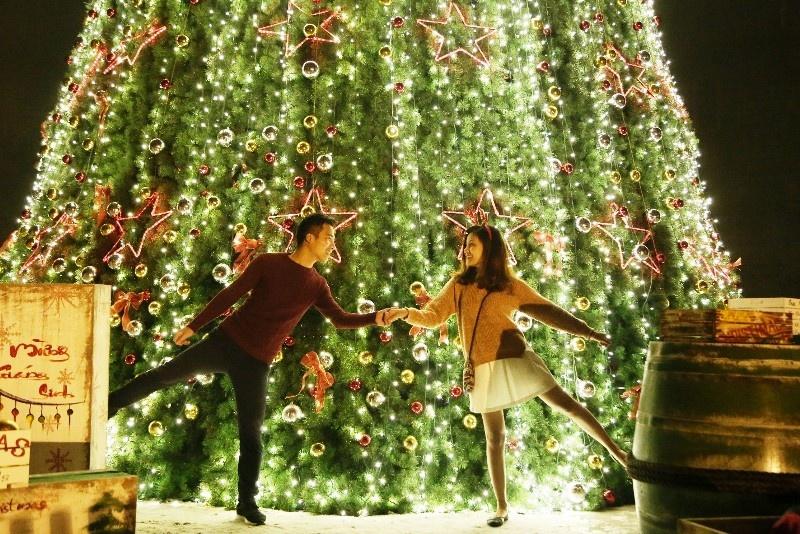 Check-in cây thông Noel khổng lồ trên đỉnh Bà Nà